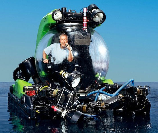 End of March 2012 James Cameron successfully completed the record breaking dive to Mariana Trench the deepest point on Earth (10,898 meters deep)