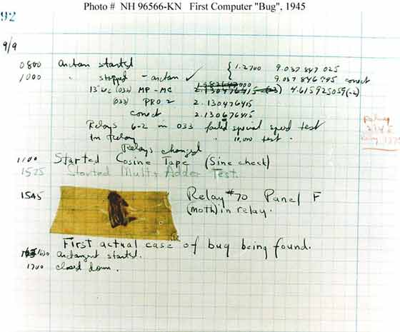 The world's first computer bug