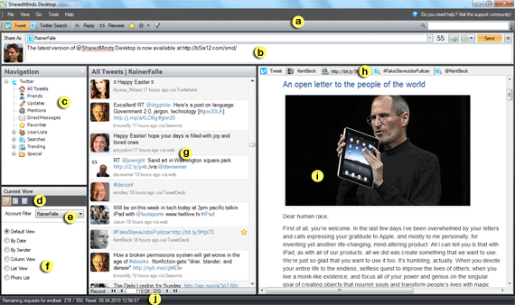 SharedMinds Deskop - Tweet Mode