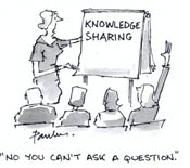 Knowledge Sharing - Cartoon