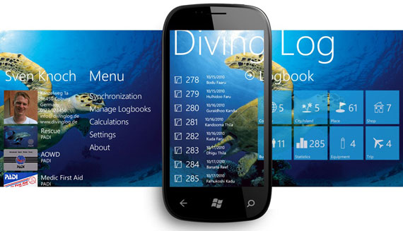 Example of a Windows Phone Metro style application