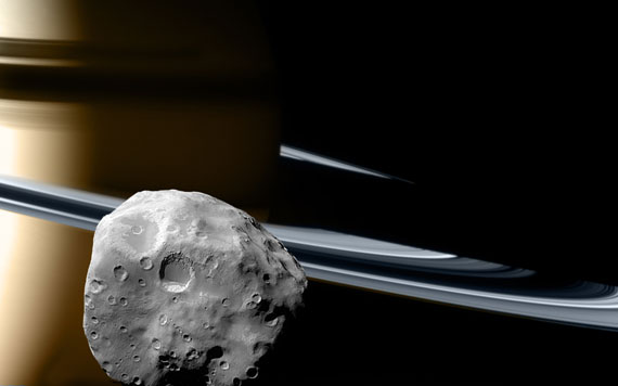 Saturn and Epimetheus © 2008 Chris Christner